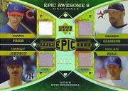 2006 Upper Deck Epic Awesome 8 Materials #PJCR Mark Prior Jsy/Randy Johnson Jsy/Roger Clemens Pants/Nolan Ryan Jsy/Tom Seaver Jsy/Bob Gibson Jsy/Juan Marichal Jsy/Whitey Ford Jsy/10