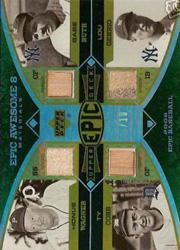 2006 Upper Deck Epic Awesome 8 Materials #WCRG Honus Wagner Pants/Ty Cobb Bat/Babe Ruth Bat/Lou Gehrig Pants/Joe DiMaggio Bat/Ted Williams Jsy/Stan Musial Pants/Jackie Robinson Pants/10