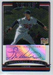 2006 Topps Chrome #336 Francisco Liriano AU (RC)