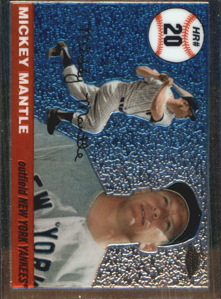 2006 Topps Chrome Mantle Home Run History #MHRC20 Mickey Mantle
