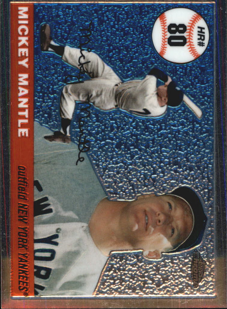 2006 Topps Chrome Mantle Home Run History #MHRC80 Mickey Mantle