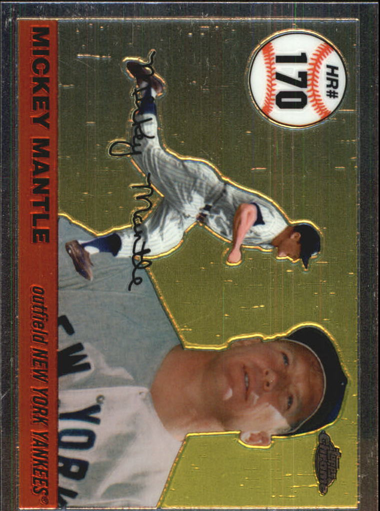 2006 Topps Chrome Mantle Home Run History #MHRC170 Mickey Mantle