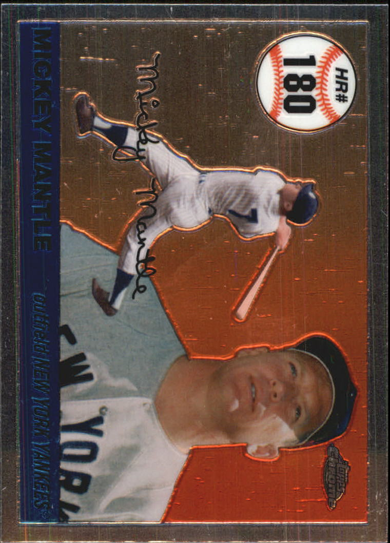 2006 Topps Chrome Mantle Home Run History #MHRC180 Mickey Mantle