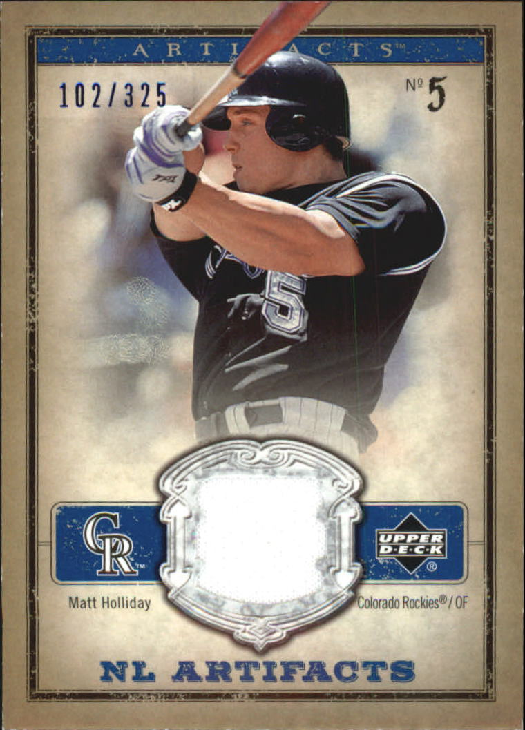 2006 Artifacts AL/NL Artifacts Blue #MHN Matt Holliday Jsy/325
