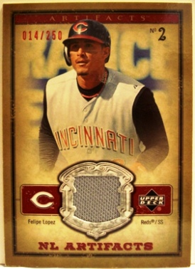 2006 Artifacts AL/NL Artifacts Red #FLN Felipe Lopez Jsy/250