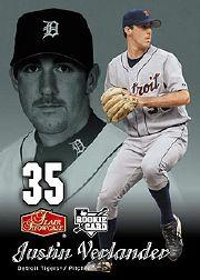 2006 Flair Showcase #108 Justin Verlander FB (RC)