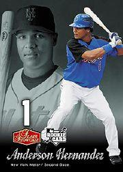 2006 Flair Showcase #190 Anderson Hernandez SL (RC)