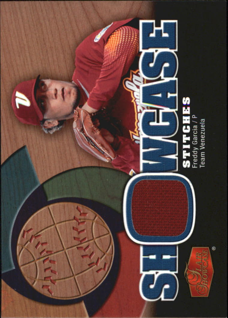 2006 Flair Showcase Stitches #FG Freddy Garcia Jsy