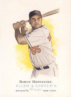 2006 Topps Allen and Ginter #11 Ramon Hernandez