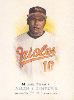 2006 Topps Allen and Ginter #12 Miguel Tejada