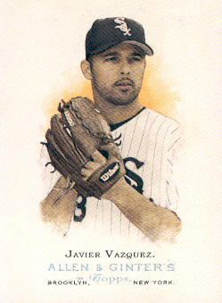 2006 Topps Allen and Ginter #28 Javier Vazquez