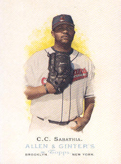 2006 Topps Allen and Ginter #33 C.C. Sabathia