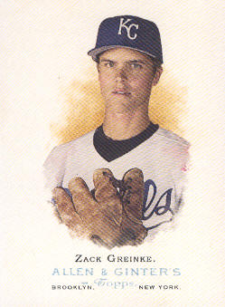 2006 Topps Allen and Ginter #38 Zack Greinke