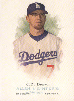 2006 Topps Allen and Ginter #39 J.D. Drew