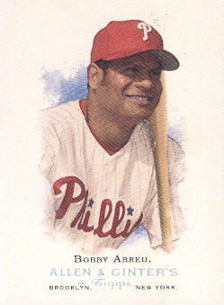 2006 Topps Allen and Ginter #46 Bobby Abreu