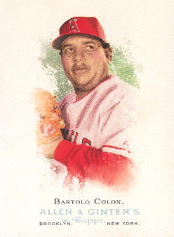 2006 Topps Allen and Ginter #52 Bartolo Colon SP