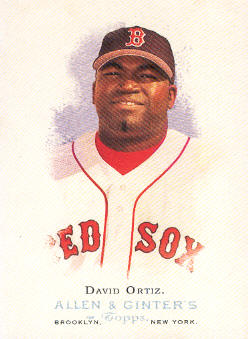 2006 Topps Allen and Ginter #54 David Ortiz SP