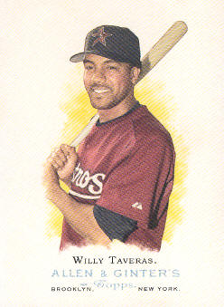 2006 Topps Allen and Ginter #58 Willy Taveras SP