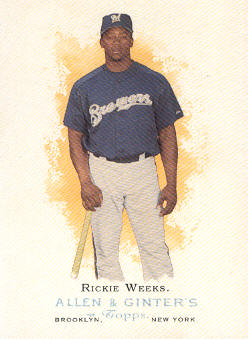2006 Topps Allen and Ginter #68 Rickie Weeks