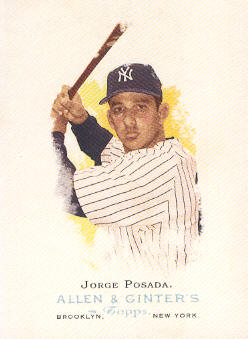 2006 Topps Allen and Ginter #95 Jorge Posada