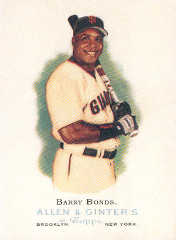 2006 Topps Allen and Ginter #100 Barry Bonds