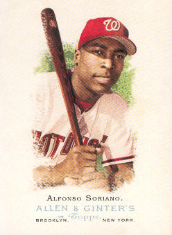 2006 Topps Allen and Ginter #101 Alfonso Soriano