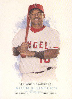 2006 Topps Allen and Ginter #110 Orlando Cabrera