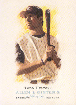 2006 Topps Allen and Ginter #128 Todd Helton