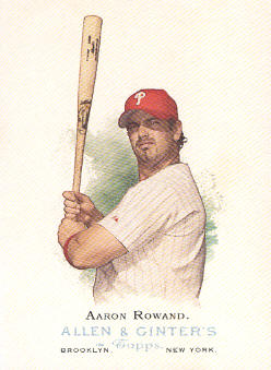 2006 Topps Allen and Ginter #129 Aaron Rowand