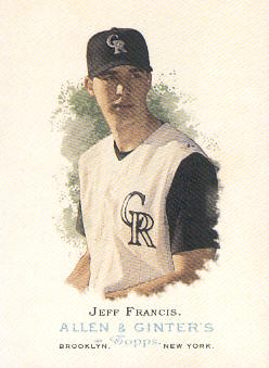 2006 Topps Allen and Ginter #161 Jeff Francis