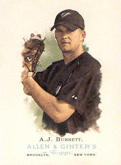 2006 Topps Allen and Ginter #179 A.J. Burnett