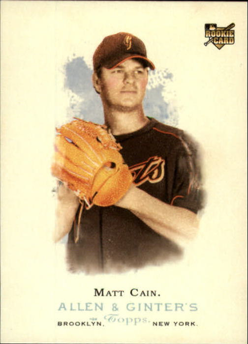 2006 Topps Allen and Ginter #255 Matt Cain SP (RC)