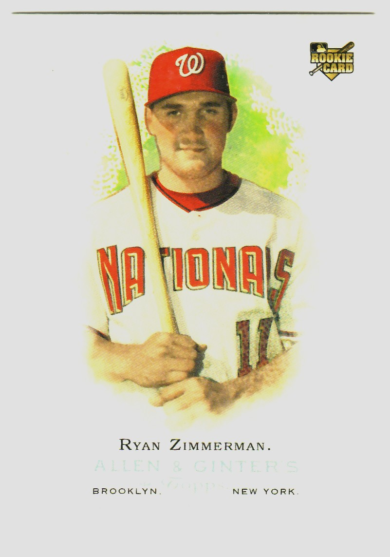 2006 Topps Allen and Ginter #264 Ryan Zimmerman (RC)
