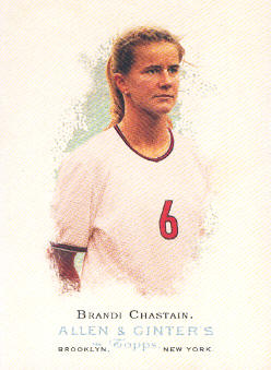 2006 Topps Allen and Ginter #304 Brandi Chastain
