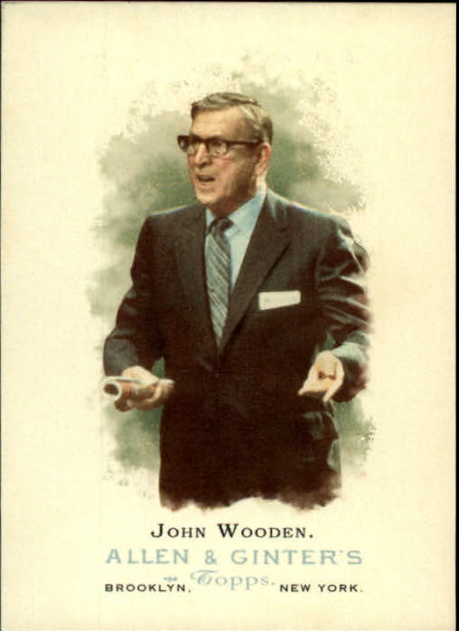 2006 Topps Allen and Ginter #309 John Wooden