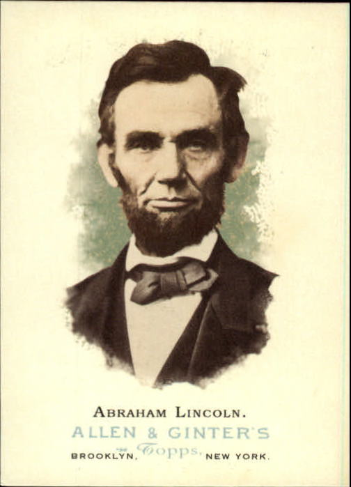 2006 Topps Allen and Ginter #328 Abraham Lincoln