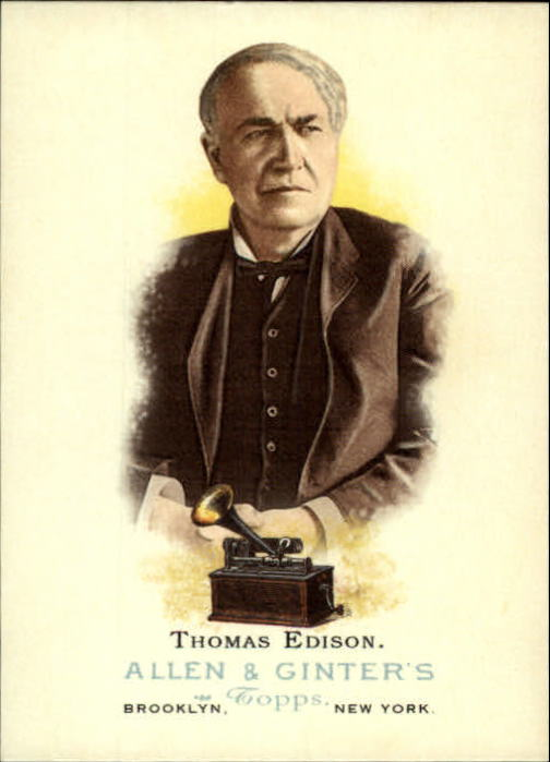 2006 Topps Allen and Ginter #337 Thomas Edison