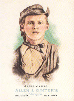 2006 Topps Allen and Ginter #349 Jesse James