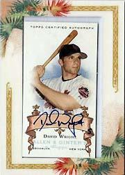 2006 Topps Allen and Ginter Autographs #DW David Wright E