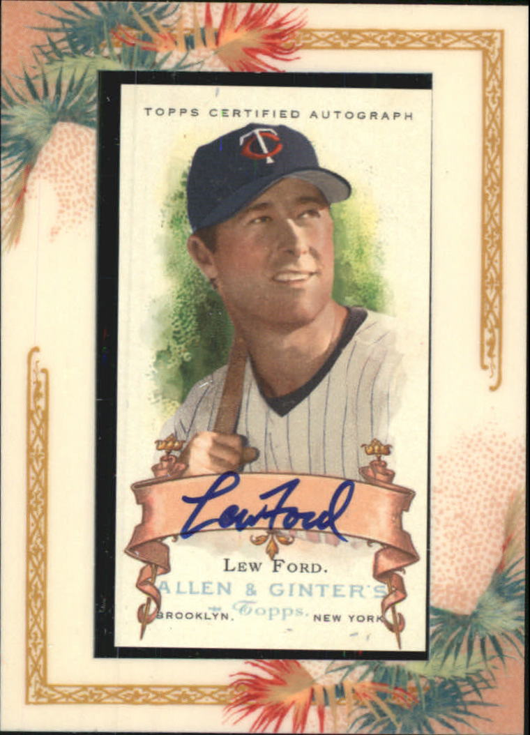 2006 Topps Allen and Ginter Autographs #LF Lew Ford G