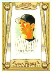 2006 Topps Allen and Ginter Dick Perez #9 Todd Helton