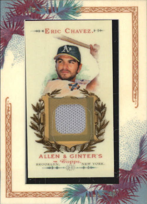 2006 Topps Allen and Ginter Relics #EC Eric Chavez Uni E