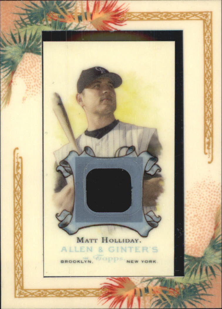 2006 Topps Allen and Ginter Relics #MH Matt Holliday Jsy F