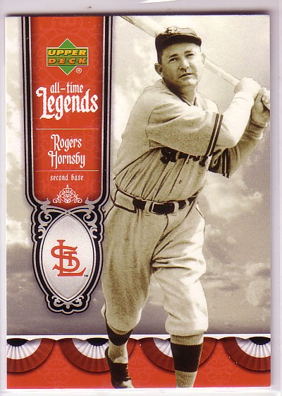 2006 Upper Deck All-Time Legends #AT40 Rogers Hornsby