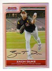 2006 Bowman Chrome Refractors #58 Zach Duke