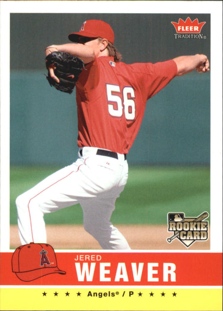 2006 Fleer Tradition #25 Jered Weaver (RC)
