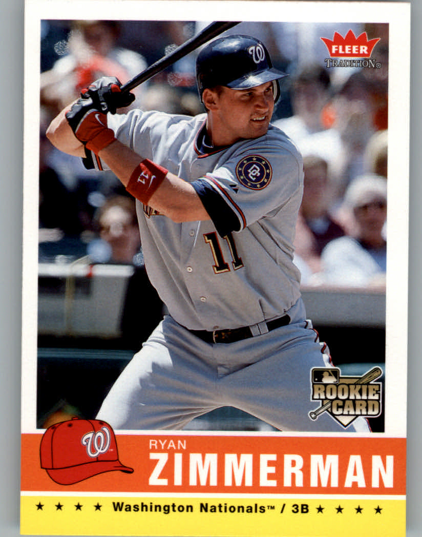 2006 Fleer Tradition #113 Ryan Zimmerman (RC) front image