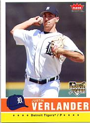 2006 Fleer Tradition #173 Justin Verlander (RC)