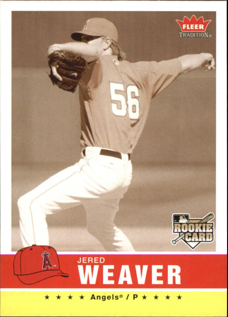 2006 Fleer Tradition Sepia #25 Jered Weaver