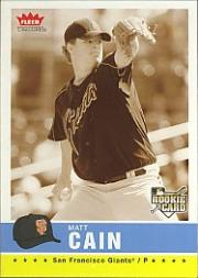 2006 Fleer Tradition Sepia #77 Matt Cain